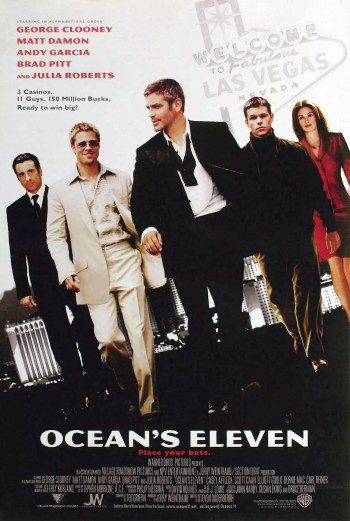 Original promotional poster for Ocean's Eleven (2001), featuring a look at Rusty's footwear.