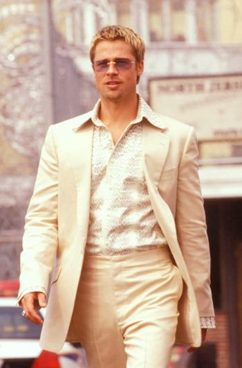 "Brad Pitt as Robert ""Rusty"" Ryan in Ocean's Eleven (2001)"