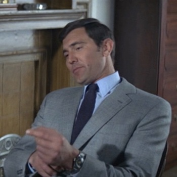 George Lazenby as James Bond in On Her Majesty's Secret Service (1969)