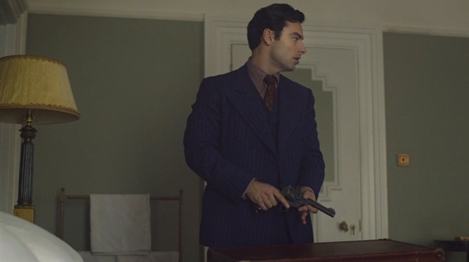 Lombard unpacks his Webley .38 revolver as soon as he gets to his room... like you do.