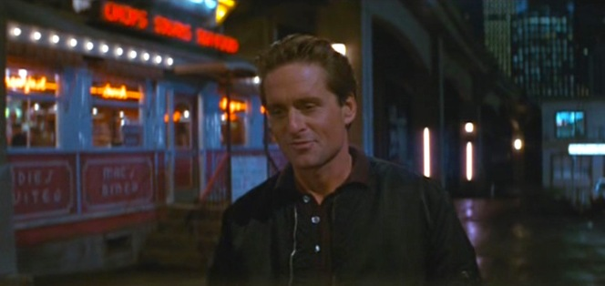 This was always a facial expression where Michael Douglas' resemblance to his father Kirk looks uncanny.