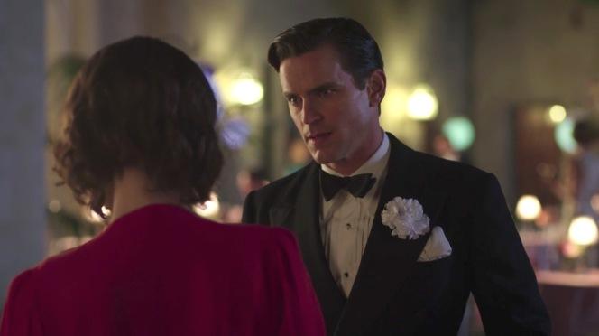 "The elegant executive at his own engagement party in ""Oscar, Oscar, Oscar"" (episode 9)."