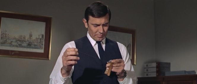 "Don't be jealous, 007. ""The other fella"" never even got to wear the garrote-wire watch."