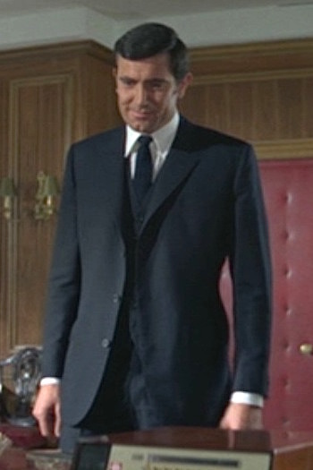 George Lazenby as James Bond in On Her Majesty's Secret Service (1969)