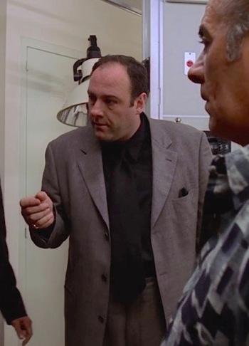 "James Gandolfini as Tony Soprano on The Sopranos (Episode 1.04: ""Meadowlands"")"