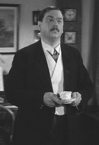 "John Alexander as ""Teddy Roosevelt"" Brewster in Arsenic and Old Lace (1941)"