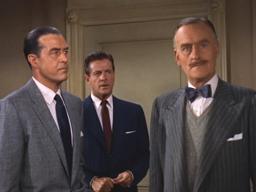 Ray Milland, Robert Cummings, and John Williams in Dial M for Murder (1954)
