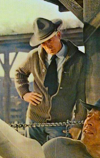 Lee Marvin in a lobby card from The Professionals (1966)