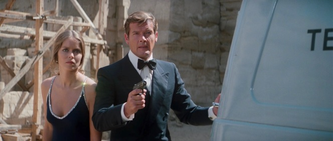 """Moore's Bond was ably accompanied by rival KGB agent Major Anya Amasova (Barbara Bach), a skilled and confident woman of action more removed from some of the franchise's earlier """"damsels in distress""""."""