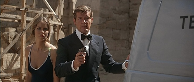 "Moore's Bond was ably accompanied by rival KGB agent Major Anya Amasova (Barbara Bach), a skilled and confident woman of action more removed from some of the franchise's earlier ""damsels in distress""."