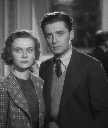 Nova Pilbeam and Derrick De Marney in Young and Innocent (1937)