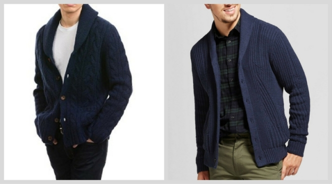 Left: Citizen Cashmere Right: Goodfellow & Co. cardigan (from Target)