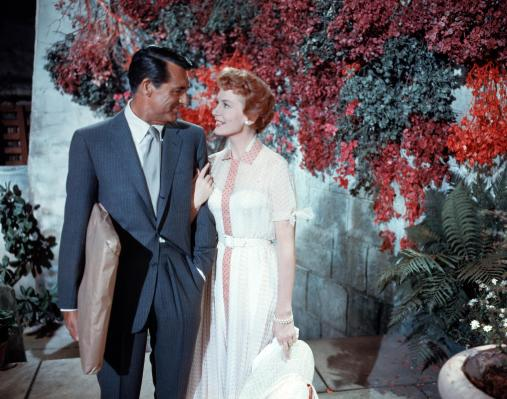 Production photo of Cary Grant and Deborah Kerr.