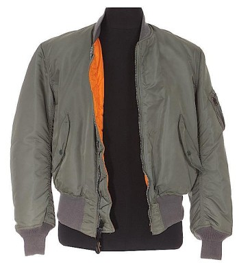 McQueen's screen-worn Alpha Industries bomber jacket from The Hunter. Source: invaluable.com.