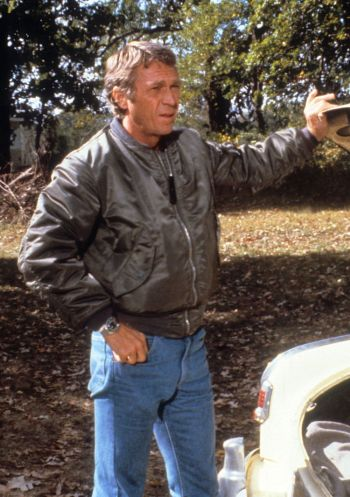 "Steve McQueen as Ralph ""Papa"" Thorson in The Hunter (1980)"