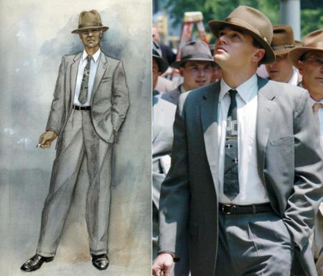 From sketch to screen... Albert Wolsky's costume design brought Frank Wheeler to life.