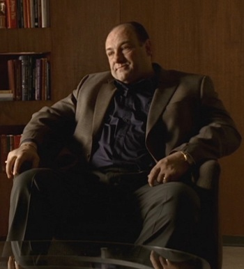 "James Gandolfini as Tony Soprano on The Sopranos (Episode 6.10: ""Moe n' Joe"")"