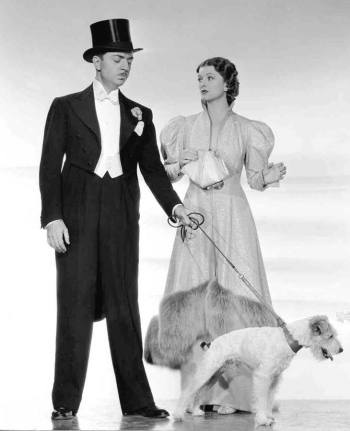 William Powell and Myrna Loy in After the Thin Man (1936)... with Skippy as Asta