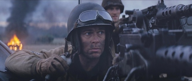 Wardaddy, dressed for battle in his M1 helmet.