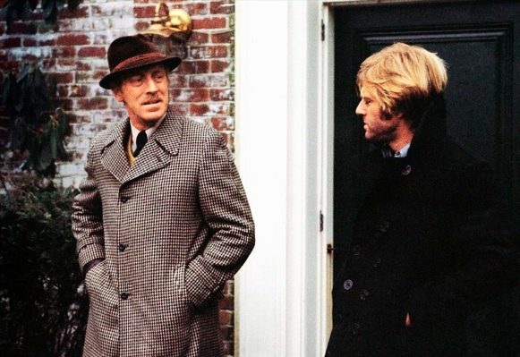 Promotional photo of Max von Sydow and Robert Redford in Three Days of the Condor (1975)