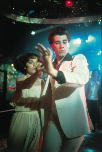 John Travolta dances with Karen Lynn Gorney in Saturday Night Fever (1977)