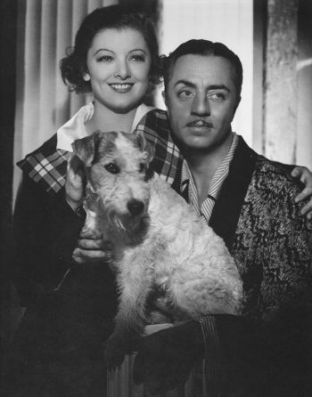 William Powell and Myrna Loy as Nick and Nora Charles in The Thin Man (1934)... with Skippy as Asta!