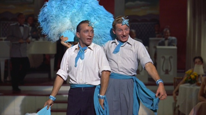 "According to Clooney, the sequence of Bob and Phil performing ""Sisters"" was not in the original script but emerged when director Michael Curtiz was amused by the actors clowning around on set and decided to film it. The final take used in the film shows Bing Crosby unable to control his laughter while performing the duet with Danny Kaye."