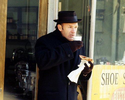 """Production photo of a bundled-up """"Popeye"""" Doyle."""