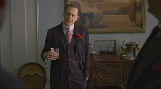 """Nucky explains a few things to his hapless political henchmen in """"Paris Green"""" (Episode 1.11)."""