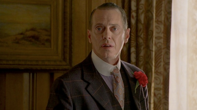 """Boardwalk Empire"" (Episode 1.01): An immediately lovestruck Nucky sees Margaret for the first time."