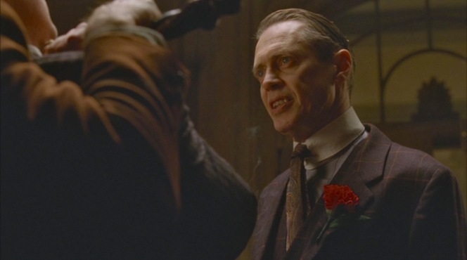 """""""Family Limitation"""" (Episode 1.06): Nucky makes it clear that Lucky Luciano isn't welcome to enjoy any of Atlantic City's dazzling attractions."""