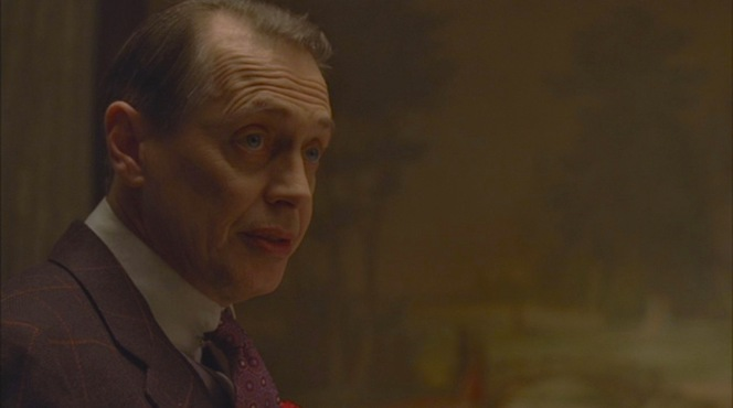 Nucky wines and dines Frank Hague.