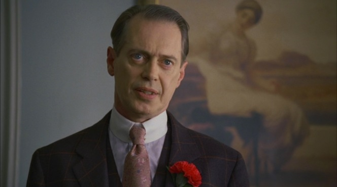 """""""Paris Green"""" (Episode 1.11): Nucky explains the latest shakeup in his ranks to Atlantic City's corrupt chiefs."""