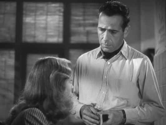 Harry Morgan appears to regret wearing a desperately wrinkled shirt that smells faintly of fish when meeting a woman he'd like to spend the rest of his life with, but c'est la vie.