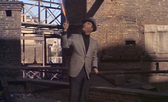 Bash Brannigan takes a break from readjusting himself to fire his Detective Special at an adversary. Stanley's dedication to realism is rather staggering, particularly when taking into account that he does this in the middle of New York City!