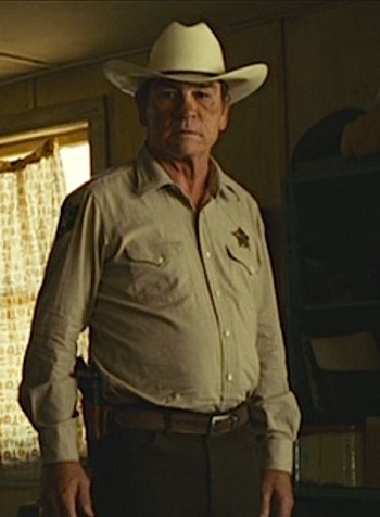 Tommy Lee Jones as Sheriff Ed Tom Bell in No Country for Old Men (2007)