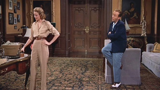Despite his snappy shoes, Dexter's charm initially fails to recapture Tracy's attention.