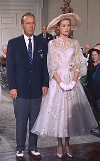 Bing Crosby as Grace Kelly tie the knot in High Society (1956)