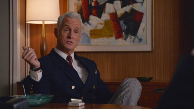 After Lucky Strike's betrayal, Roger Sterling was never seen without his deck of Camels - unfiltered, of course - near at hand.