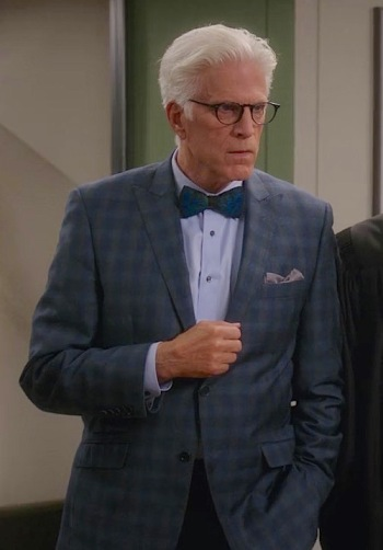"Ted Danson as Michael on The Good Place. (Episode 1.13: ""Michael's Gambit"")"
