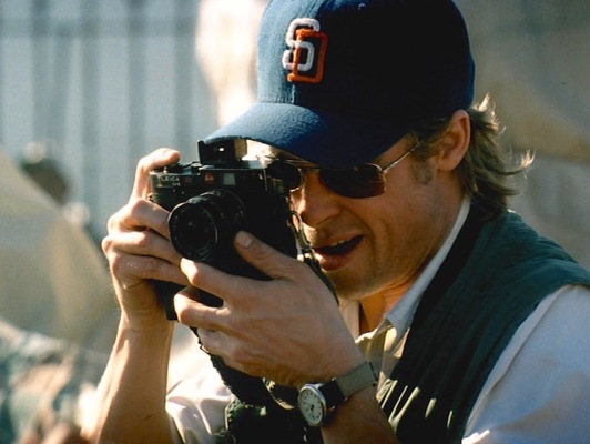 Although the year-old Leica M6 would have been a hot product in 1985, Tom Bishop's true fashion-forwardness comes from his hat, which utilizes a sports logo that wouldn't be implemented for another half-dozen years.