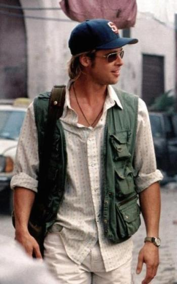 Brad Pitt as Tom Bishop in Spy Game (2001)