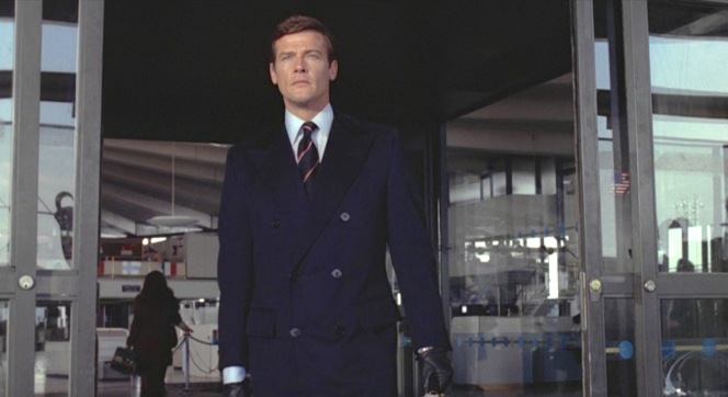 Bond steps out of John F. Kennedy International Airport, the same airport that Fleming had stipulated in the book (though it was called Idlewild at the time of the book's publishing in 1954).