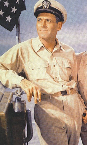 Henry Fonda as the titular Lt.(j.g.) Doug Roberts in Mister Roberts (1955)