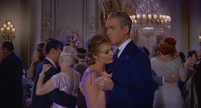 """Enjoying"" a dance with Judy, wearing a little-seen striped tie."