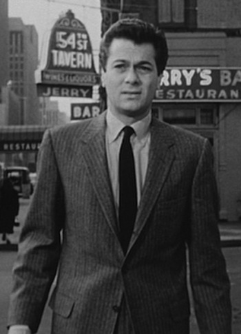 Tony Curtis as Sidney Falco in Sweet Smell of Success (1957)