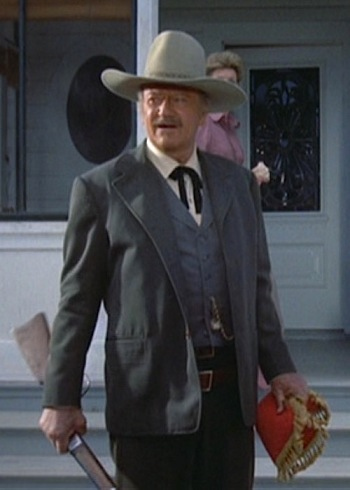 John Wayne as J.B. Books in The Shootist (1976)