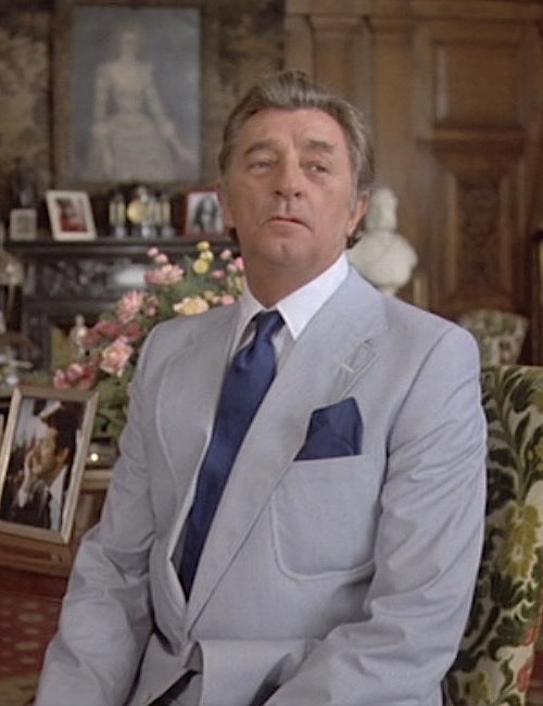 34a71275701 Mitchum as Marlowe: Striped Summer Suit in The Big Sleep | BAMF Style