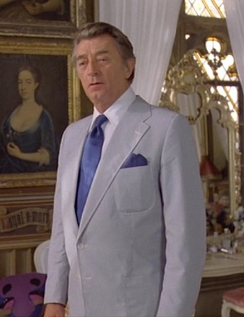 Robert Mitchum as Philip Marlowe in The Big Sleep (1978)