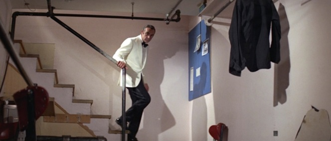 Bond ducks into Shady Tree's dressing room and finds his most promising lead dead so he... goes and plays craps? I'm not sure much of this movie was supposed to make sense anyway, right?